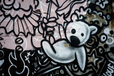 Fototapeta Graffiti nounours