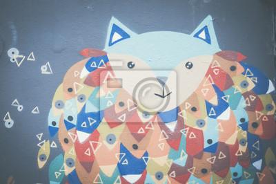 Fototapeta Graffiti personnage Enfantin