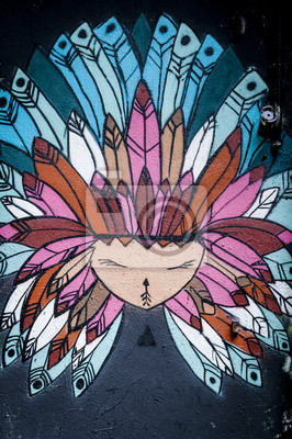 Fototapeta Graffiti petit indie