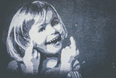 Fototapeta Graffiti petite fille qui sourit