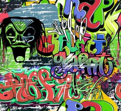 Fototapeta graffiti ściany wektorowych bez szwu tła