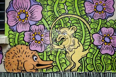 Fototapeta Graffiti szczur i hérisson