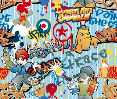 Fototapeta Graffiti szwu wektor