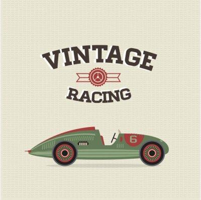 Grafika samochody zabytkowe wyścigi