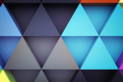 Fototapeta Grafika trójwymiarowa abstrakcyjna trójkąta tła