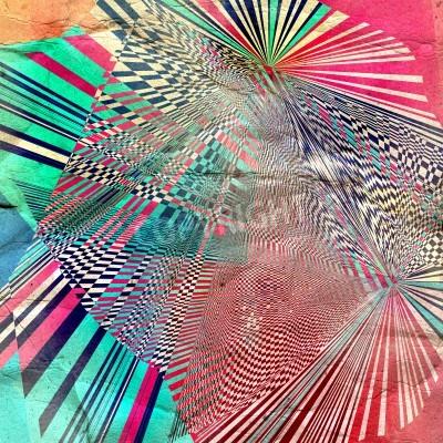Fototapeta Grafiki czarno-białe tło abstrakcyjne z konturem