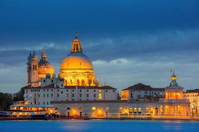 Fototapeta Grand Canal w nocy w Wenecji, Włochy