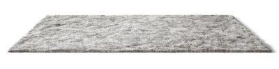 Fototapeta Gray fluffy carpet. Isolated with clipping path. 3d illustration