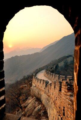 Fototapeta Great Wall sunset