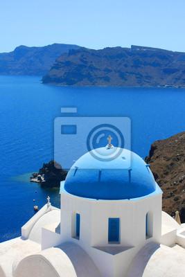 Fototapeta Grèce - Santorin (Eglise à Oia)