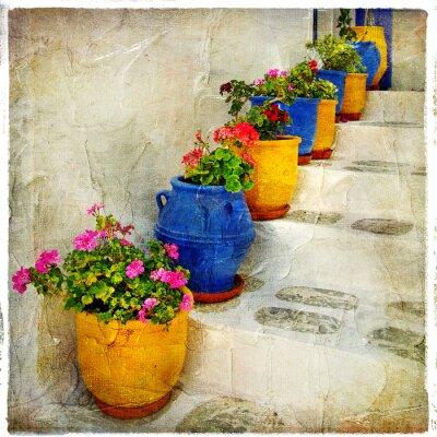 Fototapeta greckie ulice szczegóły. artystycznej picure