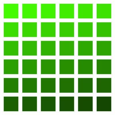 Fototapeta Green color palette vector green vegetation grass color palette