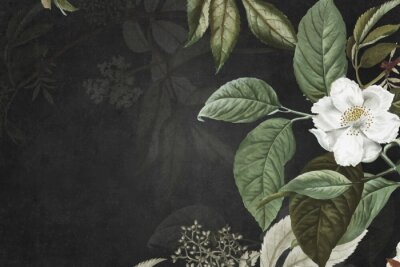 Fototapeta Green floral background