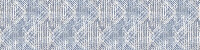 Fototapeta Grey french linen vector texture seamless border pattern. Brush stroke grunge woven abstract banner background. Country farmhouse style textile. Irregular distressed marks ribbon trim in gray blue.