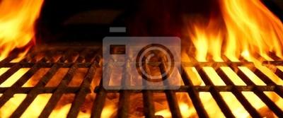 Fototapeta Grill, grill lub grill lub Bar-BQ Węgiel Fire Grill