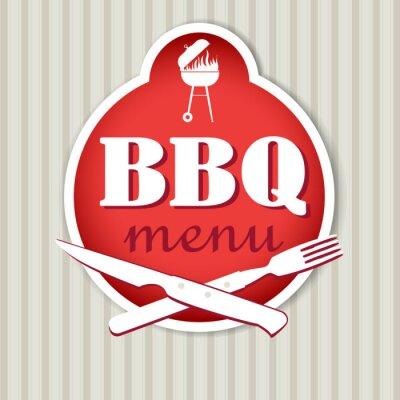 Fototapeta Grill szablon menu dla restauracji.