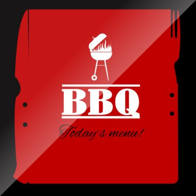 Fototapeta Grill szablon menu dla restauracji lub pubie.