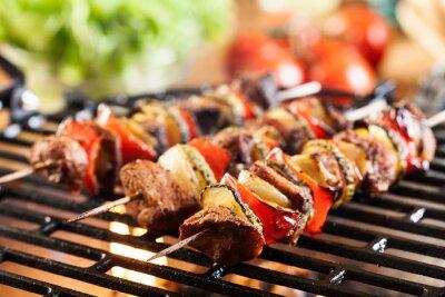 Fototapeta Grillowanie szaszłyk na grilla