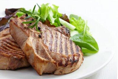 Fototapeta Grillowany stek z mięsa