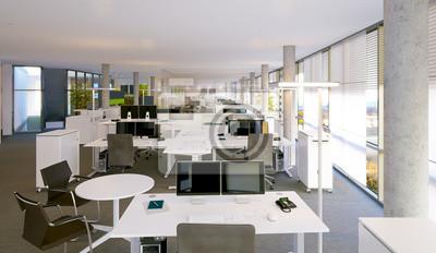 Fototapeta Großraumbüro - otwarta przestrzeń biura