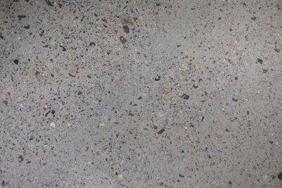 Fototapeta Ground Concrete floor inside building with polished gravels.