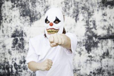 Fototapeta Groźny clown w horrorze