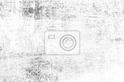 Fototapeta Grunge background of black and white. Abstract illustration texture of cracks, chips, dot. Dirty monochrome pattern of the old worn surface.