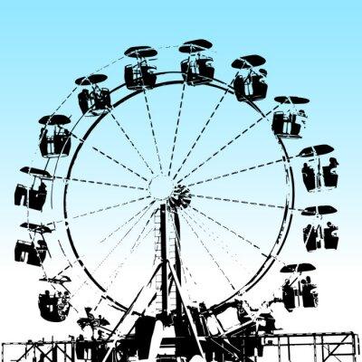 Fototapeta Grunge Ferris Wheel