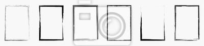 Fototapeta Grunge frame collecton. Grounge border set. Vector