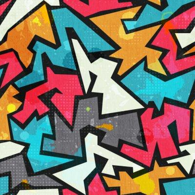 Fototapeta grunge kolorowe graffity szwu wzór