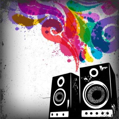Fototapeta Grunge koncepcja Muzyka