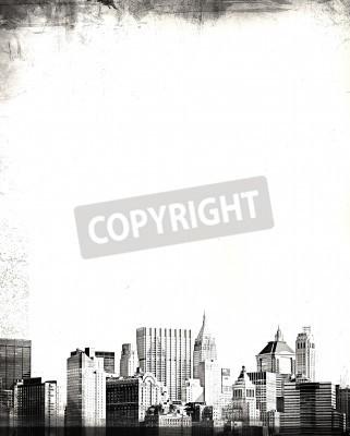 Fototapeta grunge obraz panoramę nowego jorku