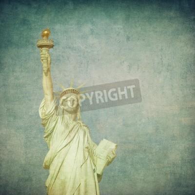 Fototapeta grunge obraz statua wolności