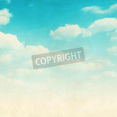 Fototapeta Grunge obrazu błękitne niebo z chmurami.