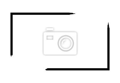 Fototapeta Grunge rama odizolowywająca na białym tle. Granica ostrości czarny prostokąt, szablon obrysu brudu. Efekt pędzla. Dekoracyjny geometryczny wzór do dekoracji strony. Ilustracji wektorowych