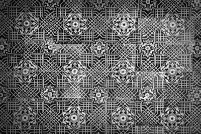 Fototapeta Grunge tła z orientalne ozdoby.