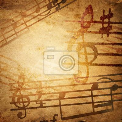 Fototapeta grunge tło muzyczne