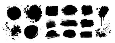 Fototapeta Grunge vector hand drawn elements