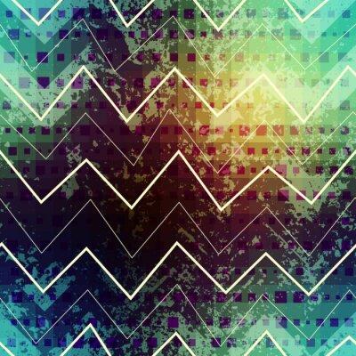 Fototapeta Grunge zielony szewron wzór.