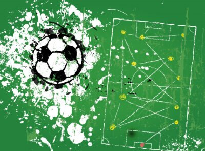 Fototapeta grungy, piłka nożna, ilustracji wektorowych w formacie