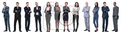 Fototapeta grupa ludzi sukcesu w biznesie na białym tle