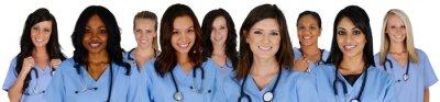 Fototapeta Grupa pielęgniarek w szpitalu