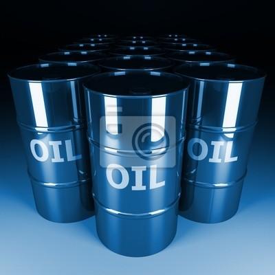 Fototapeta grzywny 3d obraz beczki oleju chrom