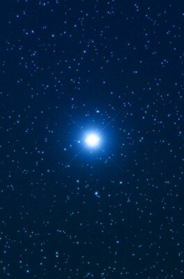 Fototapeta Gwiazda, jak widać przez teleskop.