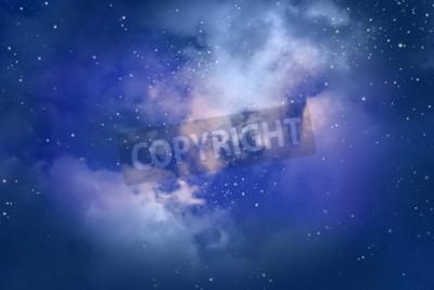 Fototapeta Gwiazdy na nocnym niebie