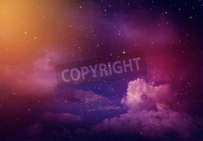 Fototapeta Gwiazdy na nocnym niebie, fioletowym tle.