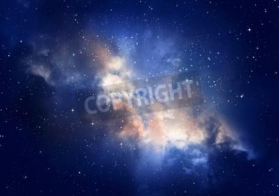 Fototapeta Gwiazdy na nocnym niebie, Mgławica i Galaxy