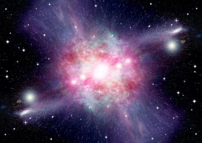 Fototapeta Gwiazdy planety i galaktyki w wolnej przestrzeni