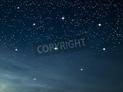 Fototapeta Gwiaździsta noc wielu jasna gwiazda na ciemnym niebieskim niebie