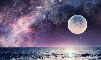 Fototapeta Gwiaździste niebo i księżyc. Różne środki przekazu